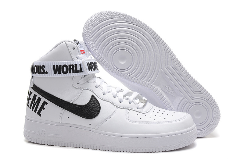 air force 1 bianche e nere alte